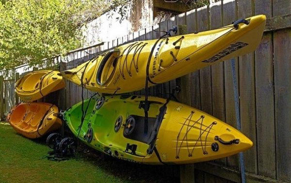 How to store kayak outside